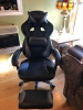 respawn-110 racing style gaming chair - reclining ergonomic leather chair with footrest )